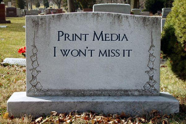 Image result for newspapers dead